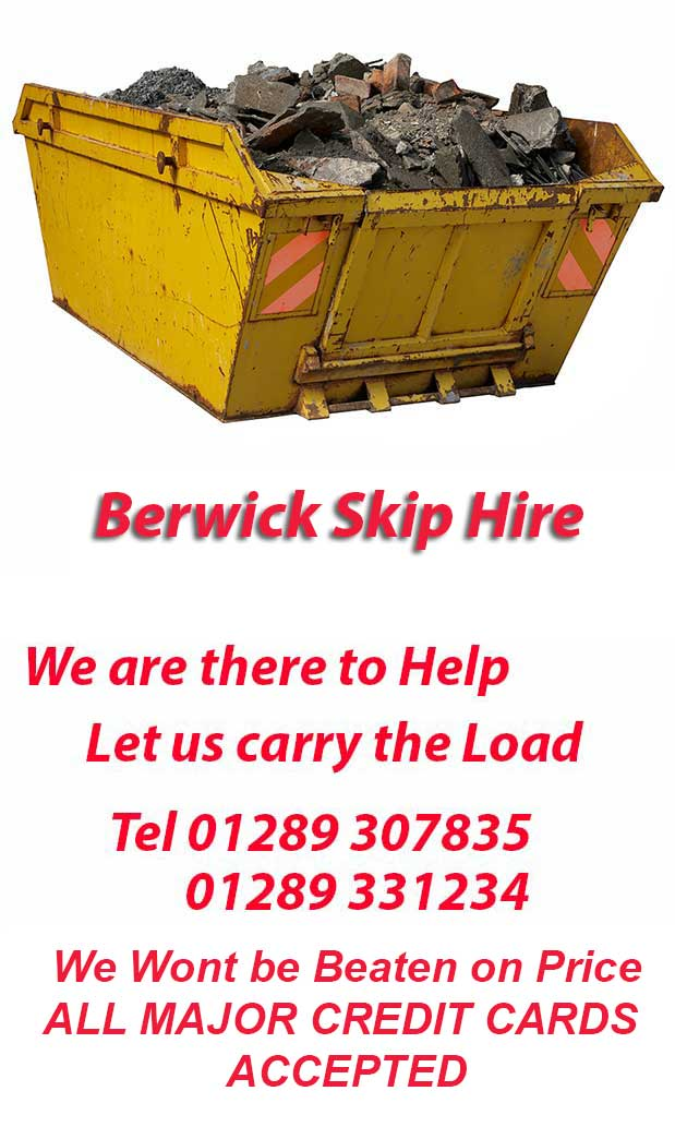 Berwick skip Hire Northumberland scottish borders